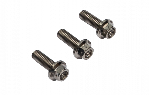 MSL Titanium GR5 Hex-Race Bolt Set, M8x25