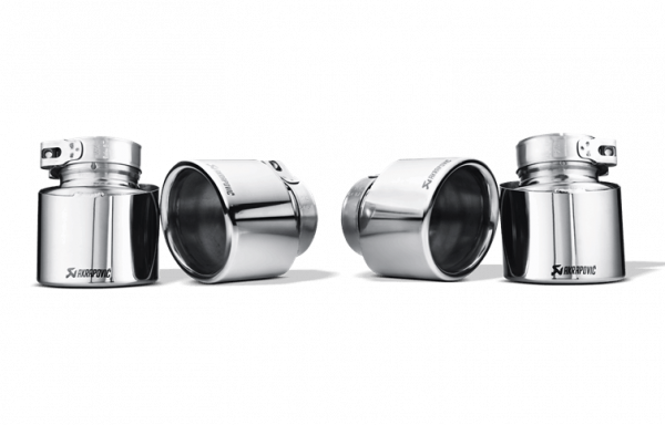 Tail Pipe Set Titanium, Akrapovic, BMW X5M - X6M E7x S63